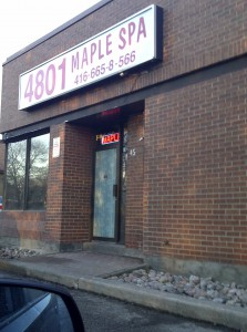 maple spa keele street massage parlour